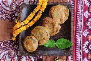 Pakoras d'Aubergine- Beignets d'Aubergine à l'indienne- Inde