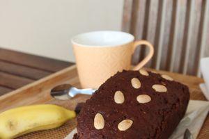 Banana bread très Cacao, sans sucre ni beurre, de Rabia