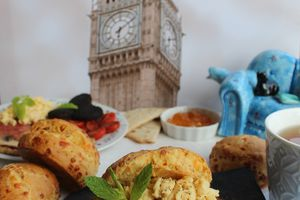 Scones au Cheddar et au Curry, Garniture Full English Breakfast Style! #00Chut#9