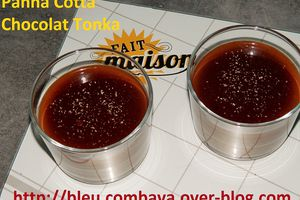 Panna Cotta Chocolat Noir et Fève Tonka