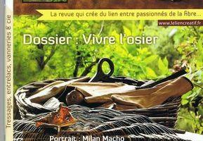 Le Lien Créatif n°6 revue sur la vannerie