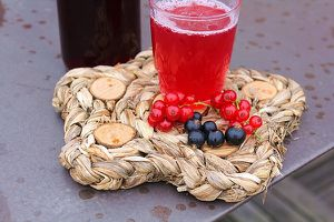 Sirop de fruits rouges.
