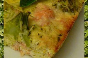 Quiche sans pâte Brocolis et Saumon