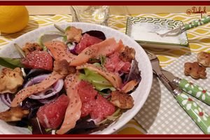 Salade de truite fumée et Pamplemousse