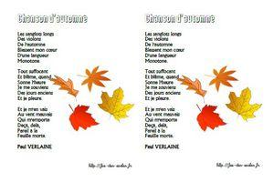 Chanson d'automne - Paul Verlaine - CE2-CM1-CM2