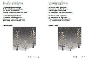 La neige papillone - Hermin Dubus - CP-CE1-CE2-CM1-CM2