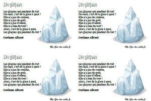 Les glaçons - Corinne Albaut - MS-GS-CP-CE1