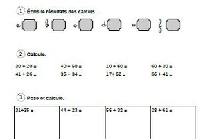 Evaluation CE1: l'addition