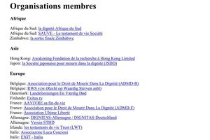 ADMD federation internationale - membres