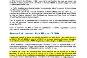 ADMD chartre du RU : Représentant des usagers