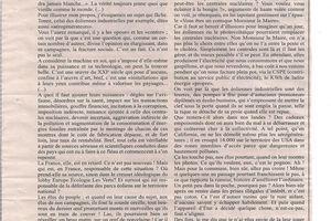 Eoliennes - Place publique - article G Magne