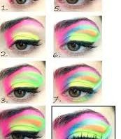 Maquillage arc en ciel