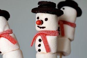 Bricolage de Noël ... Sucette Bonhomme de Neige
