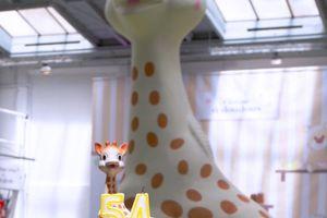 Journée entre filles, aux Mômans Sophie la girafe