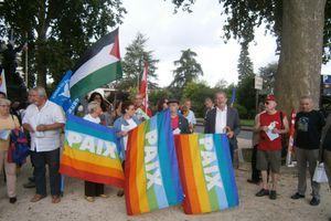 A la manifestation de solidarité avec le peuple palestinien du 09 août à Brive