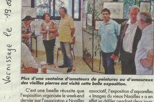 """Alain Vacher au vernissage de l'exposition d'aquarelles """"des images du Vieux Noailles"""""""