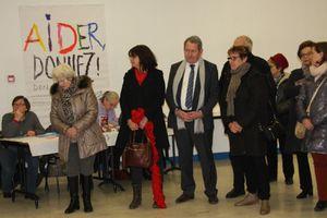 Alain Vacher et Fabienne Cassagnes au lancement du Don' actions du Secours Populaire de Brive