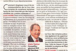Services Publics et transports: interview d'Alain Vacher dans l'Humanité