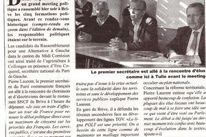 Elections départementales:La défense des services publics en toile de fond et ligne de force (L'Echo)