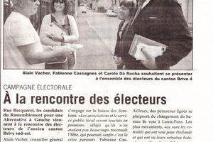 Dernière ligne droite dans la rencontre des électeurs (L'Echo)
