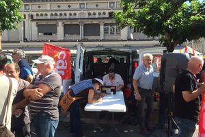 Ce 28 Juin 2016, nouveau rassemblement Place Jean Tavé à Tulle contre la Loi Travail.
