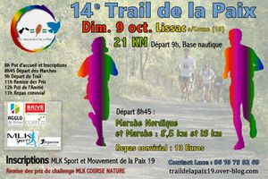 Alain Vacher sera demain aux Trail et aux Marches de la Paix à Lissac-sur-Couze