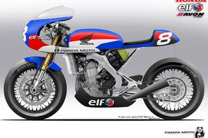 HONDA CRF 450 ... (Cafe Racer-Funnily-Further-Free-Fetish-Fest...)