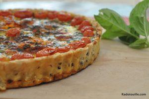 Quiche aux Poivrons Grillés et Tomates Cerises- Grilled Peppers & Cherry tomatoes Quiche