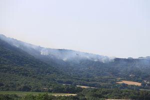SAINT GEORGES LES BAINS - Feu de forêt sur TOULAUD