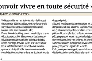 ARTICLE DE PRESSE: LA SECURITE