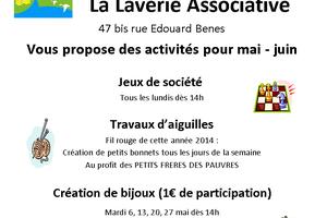 ACTIVITES DE CE PRINTEMPS A LA LAVERIE