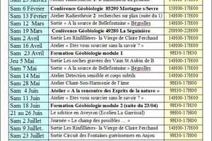 Calendrier sorties/formations 2016