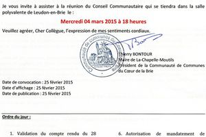 Prochain Conseil Communautaire 3CB.