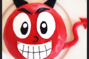 Un effroyable gâteau diablotin pour Halloween !