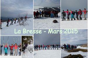 Séjour randonnées en raquettes à La Bresse (Mars 2015)