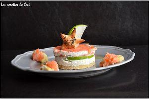 Entrée express: Fraîcheur au saumon fumé, chèvre frais et granny smith