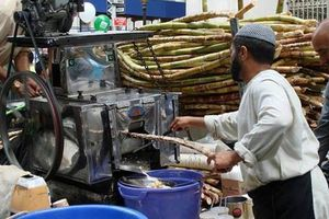 Sugar cane Juice very famous in Pakistan