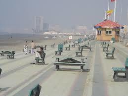 Beautiful view of Clifton beach Karachi