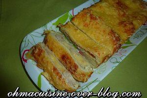 Cake croque poulet maroilles