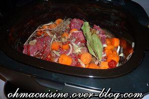 Boeuf carottes à la mijoteuse