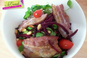 Salade de Cresson et Betteraves aux Lardons Croustillants