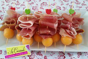 Brochettes Apéritives Melon Jambon Italien