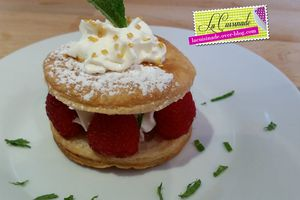 Millefeuille Chantilly Framboise Menthe