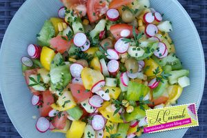 Salade composée végétarienne