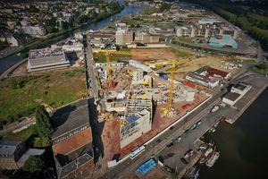 Le chantier de la Presqu'île de Caen