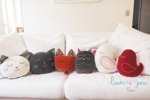 Do It Yourself : le coussin tête de chat