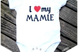 "Do It Yourself : customiser un body ""I Love my Mamie"""