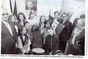 Inauguration de l'Espace Culturel Maurice Ripoche, résistant