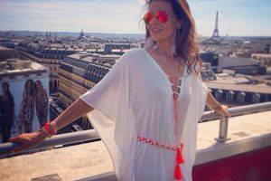 White boho-chic dress by Owl Marrakech