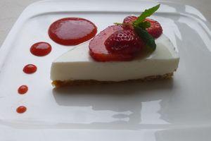 cheese-cake léger aux fraises